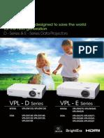 BP000540 D E-Series bnvknbkDataProjector Brochure v2