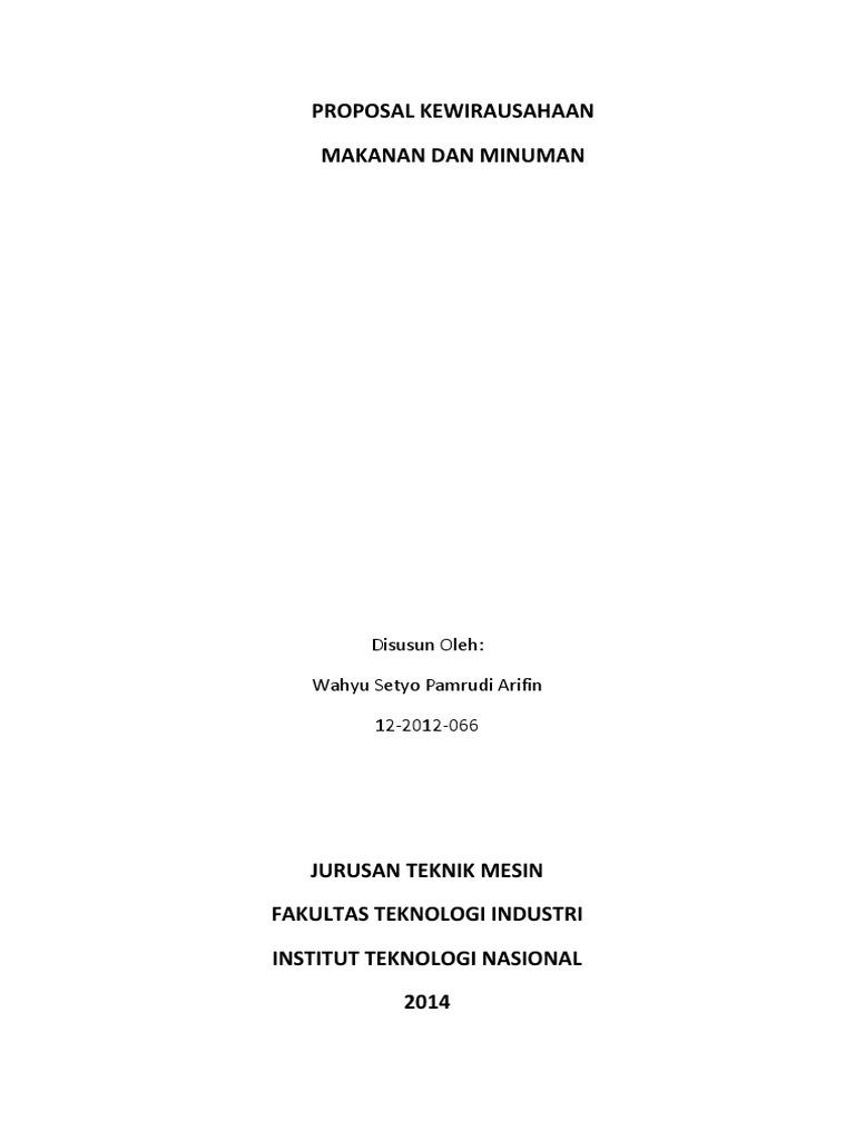 Proposal Kewirausahaan Docx