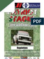 Patriot Stages 07 Regulations