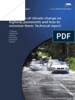 The Effects of Climate Change on Highway Pavements and How to Minimise Them