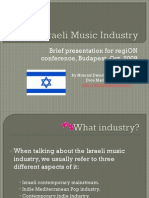 The Israeli Music Industry - DICE MARKETING - For Region Conference