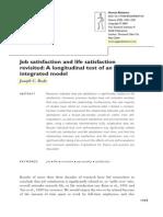 Job Satisfaction and Life Satisfaction