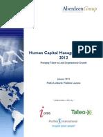Abderdeen Human Capital Managemen Trends 2012