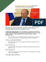 Zusammenfassung Der Pressekonferenz Mit Wladimir Putin