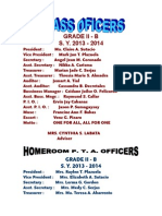 Class Oficers