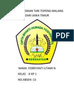 Artikel Kesnian Tari Topeng Malang Dari Jawa Timur