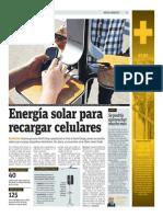 Energía solar para recargar celulares