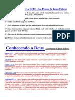 CONHECENDO A DEUS ATRVÉS DE CRISTO