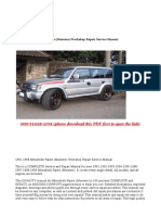 1991-1999 Mitsubishi Pajero (Montero) Workshop Repair Service Manual