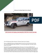 1991-1999 Mitsubishi Pajero (Montero) Workshop Repair Service Manual