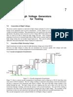 High Voltage Generators for Testing.