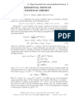 14 Experimentgdsgdal Tests of Gravitational Theory