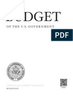 White House budget proposal and appendix