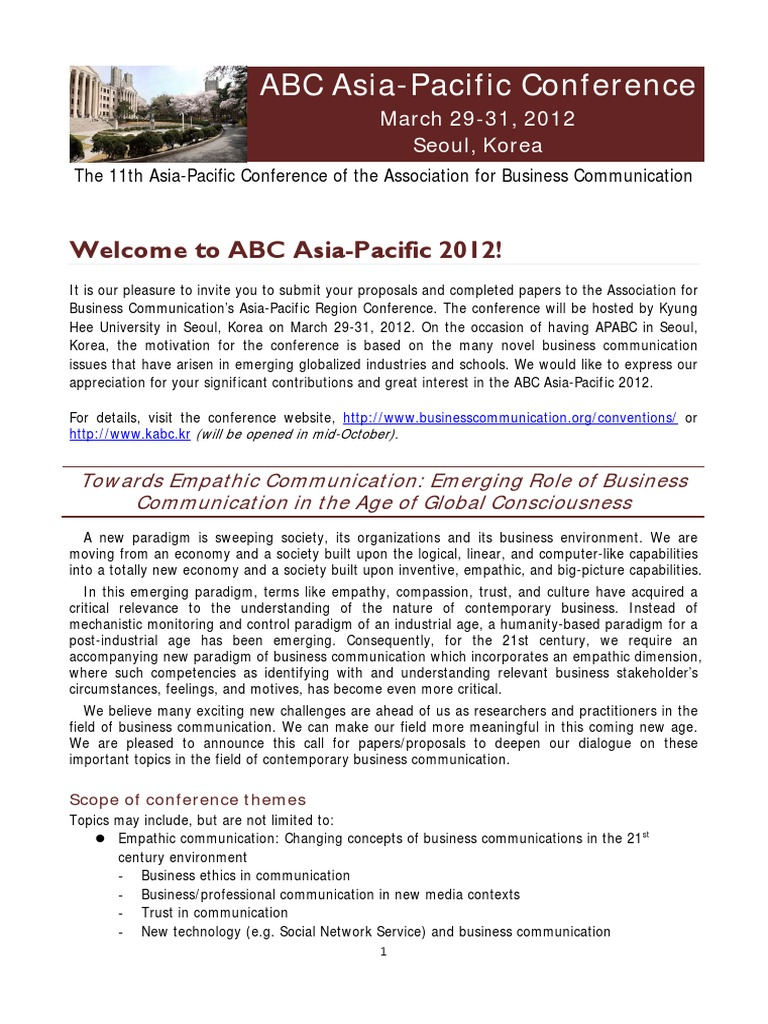 ABC Asia Pacific 11th Call For Proposals Oct 2011