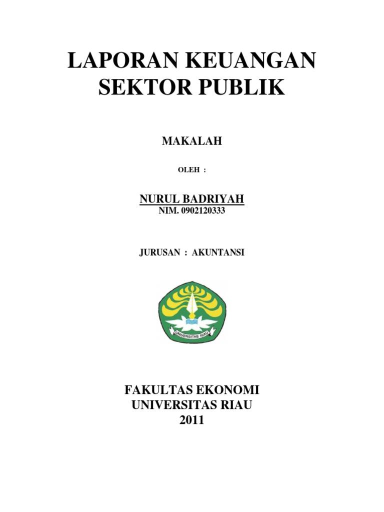 Makalah Laporan Keuangan Sektor Publik Dan Elemennya