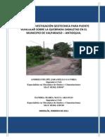 Estudio de Suelos - Valparaiso Antioquia