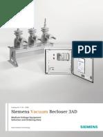 Siemens - Reconectadores en Vacio en MT