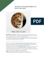 Guía fácil instalación OS X 10