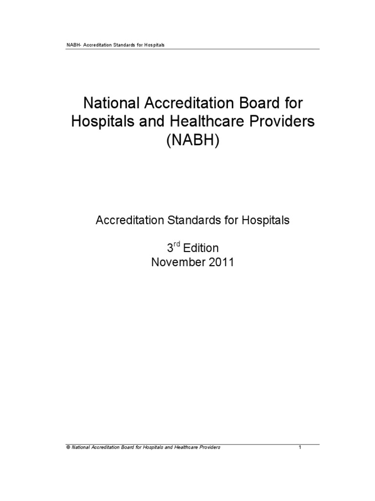3rd edition nabh guidebook 2012 new verification and validation rh scribd com Nabh India Dr Nabh