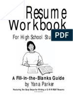 Highschool Resume Work Book