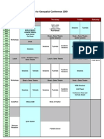 FOSS4G 2009 Program