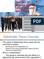 CSR Presentation by Group 3 - Stakeholder Theory