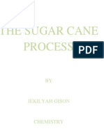 Sugar Cane Process Chemistry Project