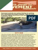 Austin Guide to Pavement Sealants