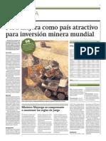 Perú mejora como país atractivo para mineria mundial_Gestión 04-03-2014