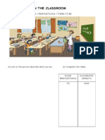 Classroom Prepositions