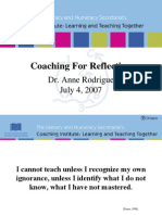 Coaching Reflection by Dr Anne Rodrigue