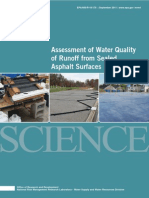 Assessment of Water Quality of Runoff from Sealed Asphalt Surfaces