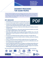 Assessment Processes for Older People