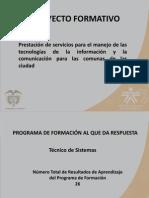 Presentacion Del Proyecto Formativo