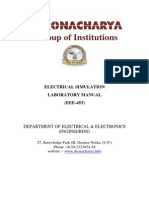 Electrical Simulation Lab Manual Ivsem