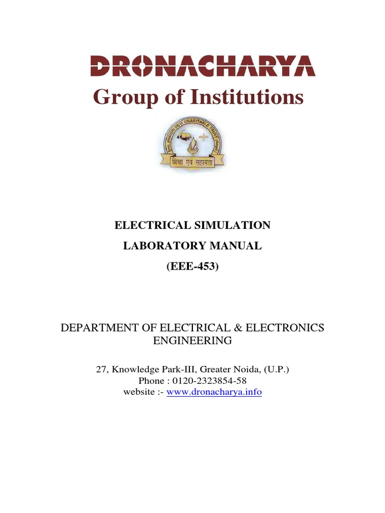 electrical simulation lab manual ivsem rectifier amplifier rh scribd com electrical circuits simulation lab manual electrical simulation lab manual for jntuk r13