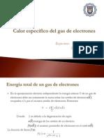 Calor Especifico Del Gas de Electrones