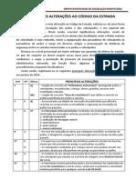 PRINCIPAIS ALTERAÇÕES AO CÓDIGO DA ESTRADA