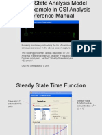 Steady State Analysis SAP2000