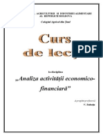 Analiza Activitatii Economico-financiara - Curs de Lectii.[Conspecte.md]