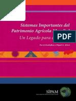 Altieri, Sistemas importantes del patrimonio agrícola mundial