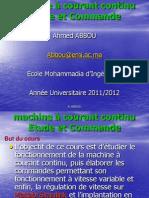 Commande d'une machine CC-GE