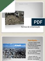 Formas de urbanização