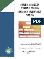 Guía de la Organización de la Red de Vigilancia Centinela de Virus Influenza en Bolivia