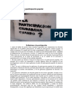 Democracia y participación popular