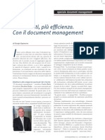 Meno costi, più efficienza. Con il document management.