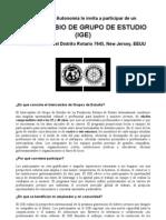 Intercambio de Grupo de Estudio -IGE 2009