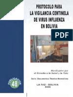 Protocolo para la Vigilancia Centinela de Virus Infuenza en Bolivia