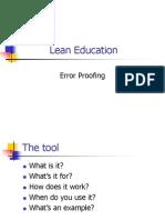 Error Proofing Basics