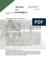 I. Bocetos para una Toponeutica Interfenomenológica (Javier Anta)
